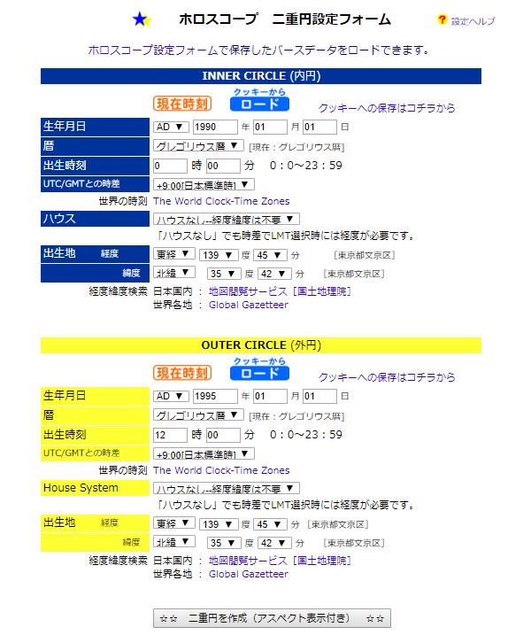 ホロスコープ無料作成サイト