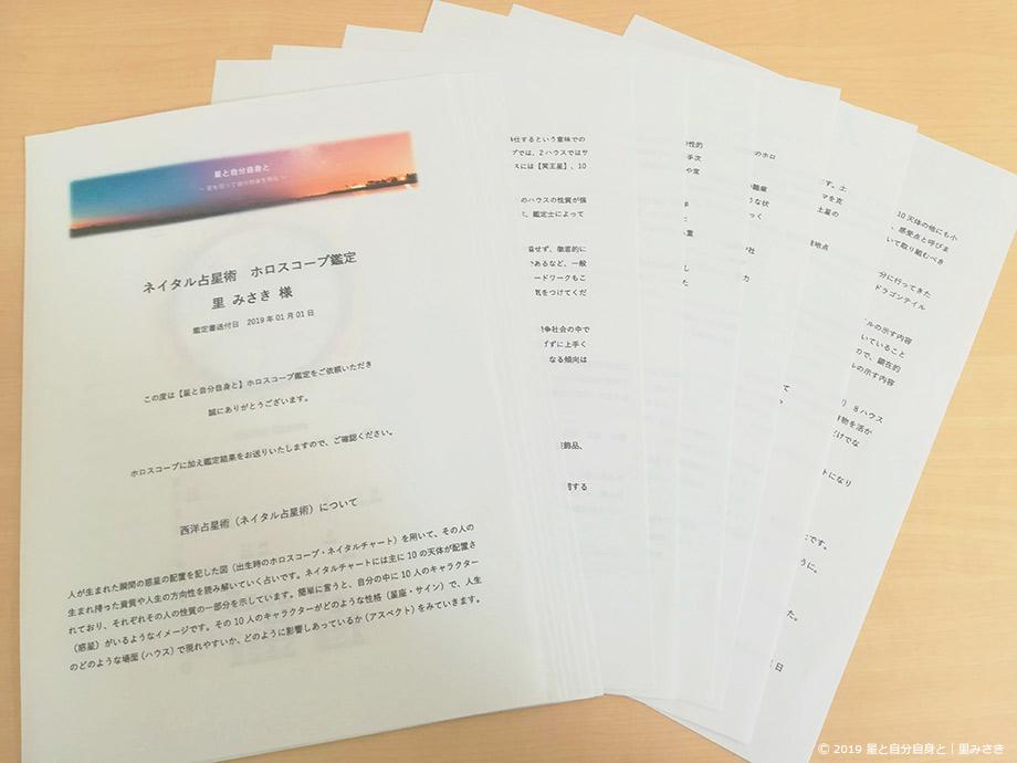 ホロスコープメール鑑定書の内容